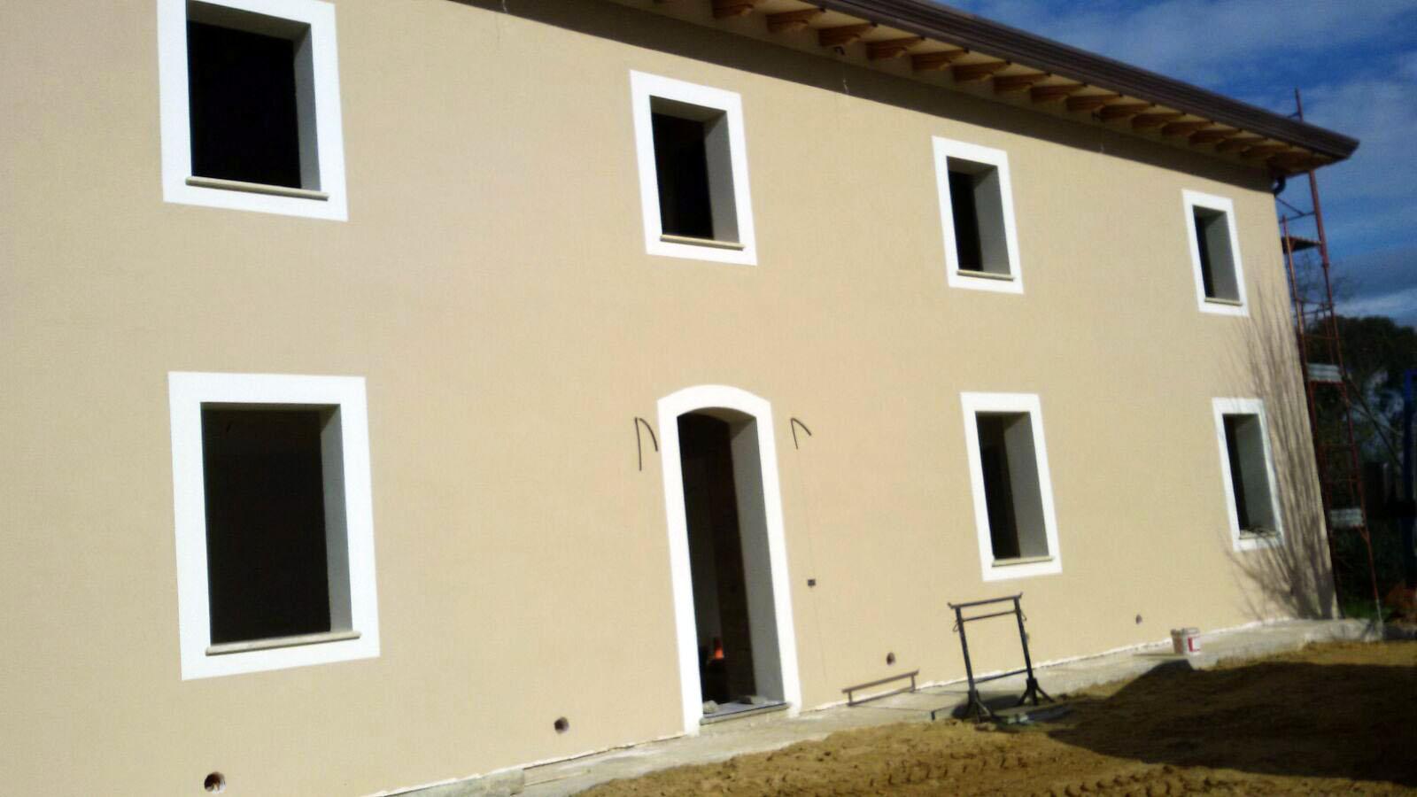 Intonaco esterno colorato cemento armato precompresso - Cemento colorato per esterno ...